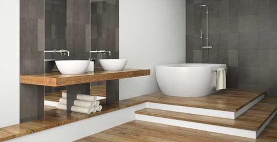 Travaux de plomberie et traitement de l 39 eau aux pavillons - Traitement bois salle de bain ...